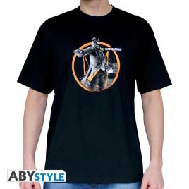 "GUARDARE CANI - Tshirt ""Fox Tag"" uomo SS nero - basic"
