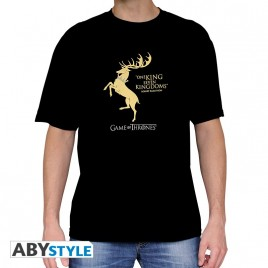 "GAME OF THRONES - Tshirt ""Baratheon"" uomo SS nero - basic"
