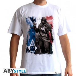 "ASSASSIN'S CREED - Tshirt ""AC5 - Flag"" uomo SS bianco - basic"