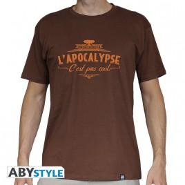 """LE VISITEUR DU FUTUR - Tshirt """"Apocalypse"""" man SS chocolate - basic"""