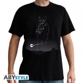 """STAR WARS - Tshirt """"Boba Fett Stars"""" uomo SS nero - basic"""