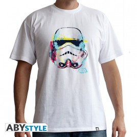 "STAR WARS - Tshirt ""Graphic Trooper"" uomo SS bianco - basic"