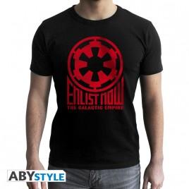 """STAR WARS - Tshirt """"Galactic Empire"""" uomo SS nero - nuova vestibilità"""