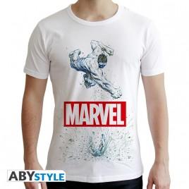 """MARVEL - Tshirt """"Marvel Hulk"""" uomo SS bianco - nuova vestibilità"""