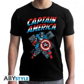 "MARVEL - Tshirt ""CA Vintage"" uomo SS nero - nuova vestibilità"