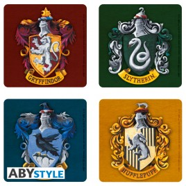 "HARRY POTTER - Set 4 ""Case"" di Coasters"