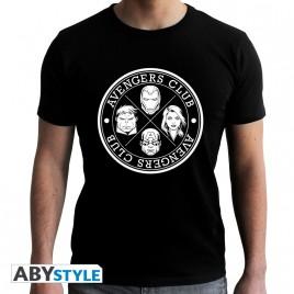 "MARVEL - Tshirt ""AVENGERS CLUB"" uomo SS nero - nuova vestibilità"