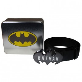 DC COMICS - Batman Logo Buckle Belt In A Tin