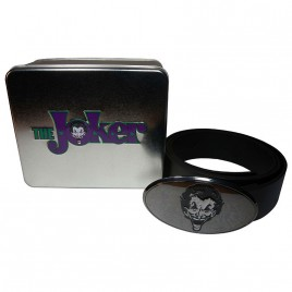 DC COMICS - The Joker Logo Buckle Belt In A Tin