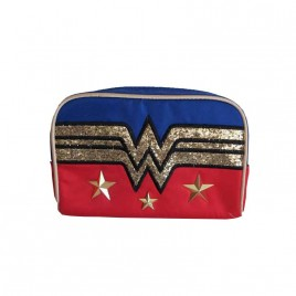 DC COMICS - Wonder Woman Logo & Stars Make Up Bag