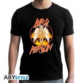 """RICK AND MORTY - Tshirt """"Birdperson"""" uomo SS nero - nuova vestibilità"""