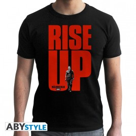 "THE WALKING DEAD - Tshirt ""Rise UP"" uomo SS nero - basic"
