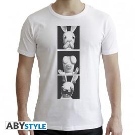 LAPINS CRETINS - Tshirt - 3 saggi Rabbids - uomo SS bianco - New Fit