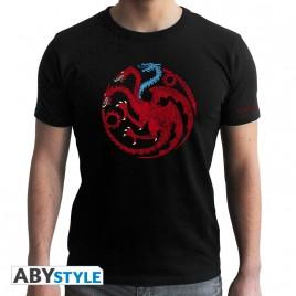 GAME OF THRONES - Tshirt Targaryen Viserion uomo SS nero - nuova vestibilità