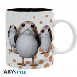 "STAR WARS - Tazza - 320 ml - ""Porg"" - subli - con scatola x2"