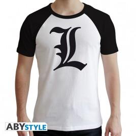 "NOTE MORTE - Tshirt ""L Symbol"" uomo SS bianco - premium"