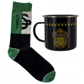HARRY POTTER - Serpeverde di Quidditch Tin Mug and Socks Set