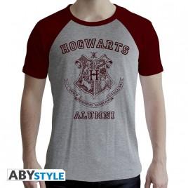 "HARRY POTTER - Tshirt ""Alumni"" uomo SS grigio e rosso - premium"