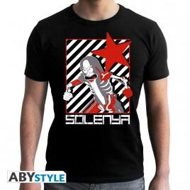 "RICK AND MORTY - Tshirt ""Solenya"" uomo SS nero - nuova vestibilità"