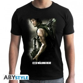 "THE WALKING DEAD - Tshirt ""Daryl Crossbow"" uomo SS nero - basic"