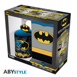 "DC COMICS - Pck Mug320ml + portachiavi + taccuino ""Batman"""