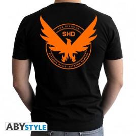 THE DIVISION - Tshirt - Emblem - uomo SS nero - nuova vestibilità