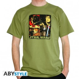 "STAR WARS - Tshirt ""Pop Art"" uomo SS verde - basic *"