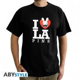 "LAPINS CRETINS - Tshirt ""Love Lapin"" uomo SS nero - basic"