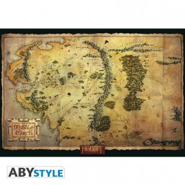 "THE HOBBIT - Poster ""Middle Earth Map"" (98x68)"