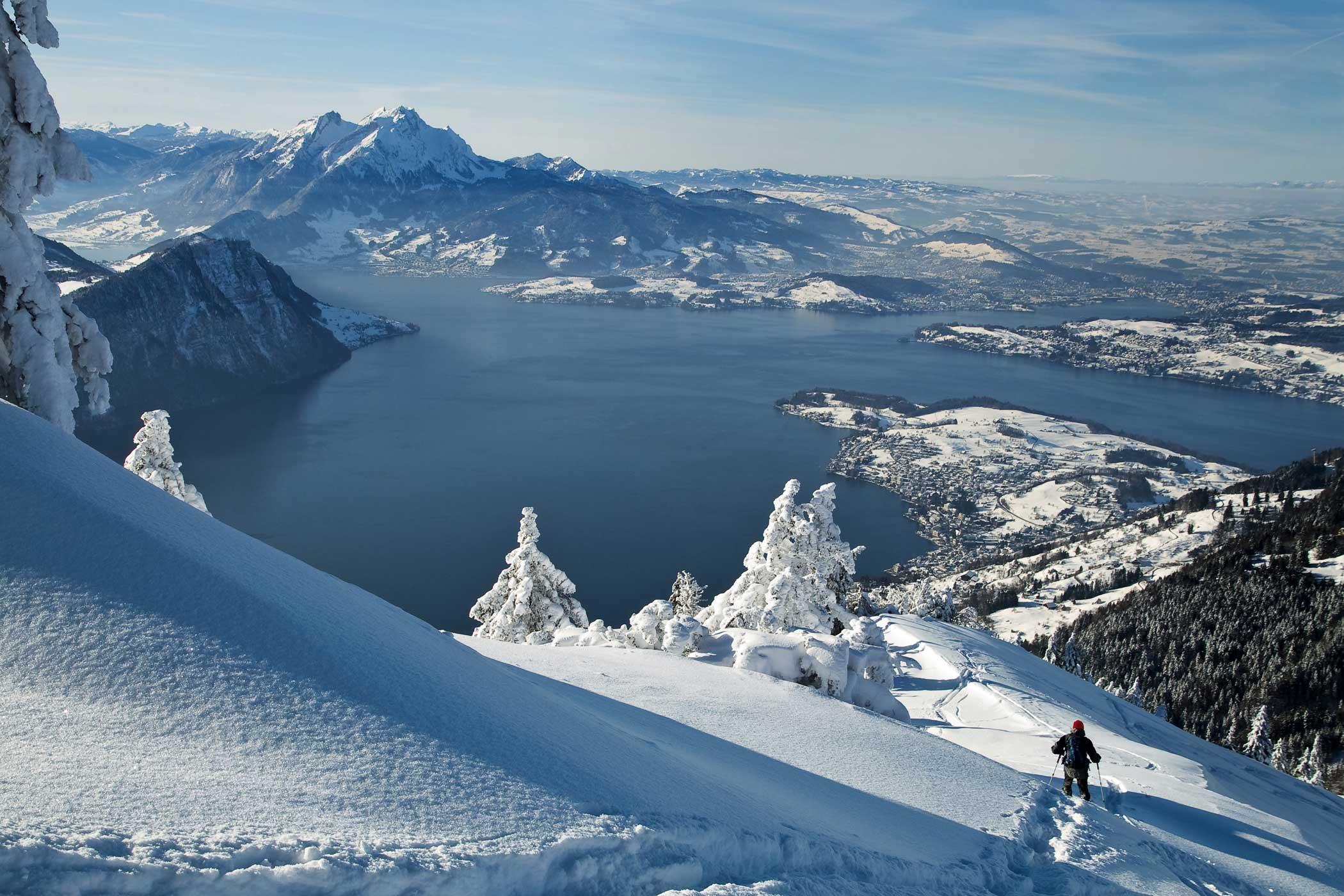 Rigi Aussicht im Winter