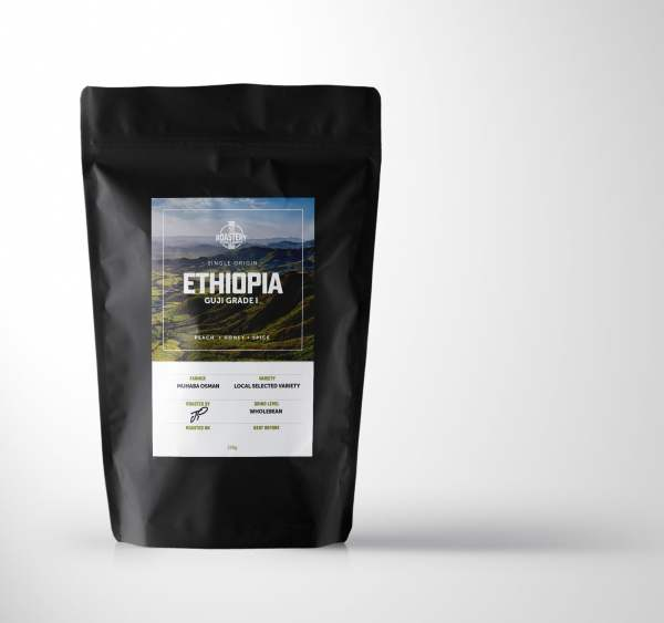 Ethiopia Guji Grade 1 Single Origin Arabica Coffee. 250 Grams.