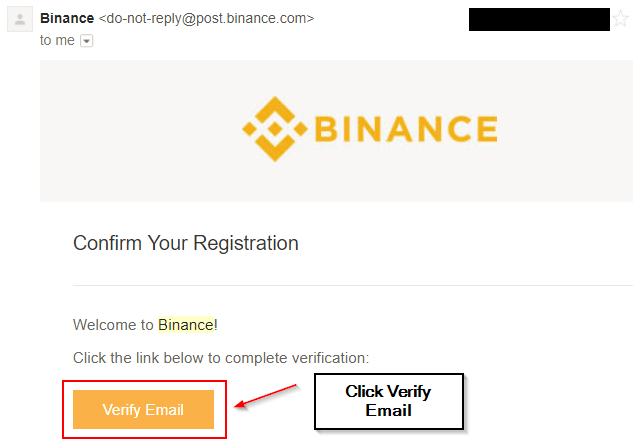 Verify your Binance email here