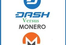 Dash versus Monero Price Chart