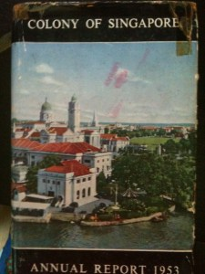 SINGAPORE YEARBOOK 1953 COVER
