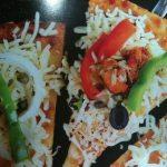 tandoori chicken rice pizza