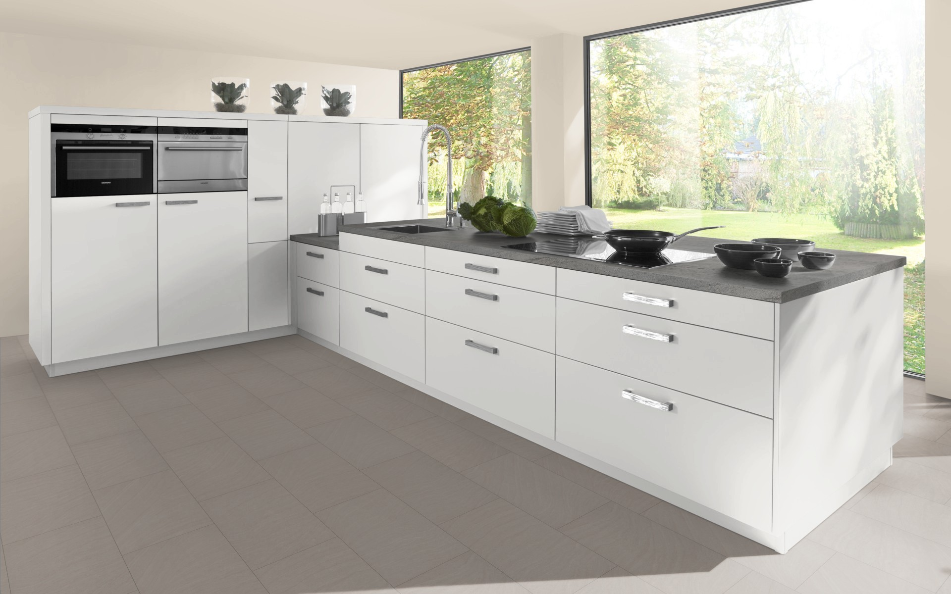 High Gloss L Shaped Corner Cabinet Door Trade Kitchens
