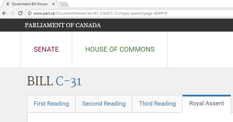 Canadian Trademark Legislative Changes