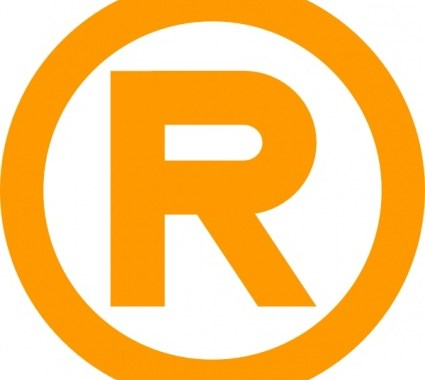 Registered Trademark Symbol in gold