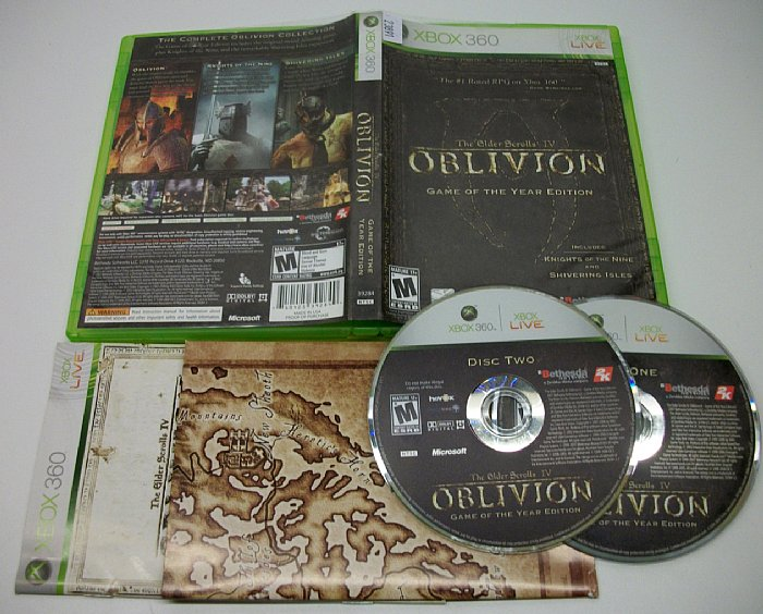 Oblivion, Game Of The Year Edition, Xbox 360 Game Used