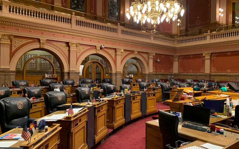 Inside of Colorado State Senate