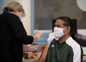 Patient receiving vaccine
