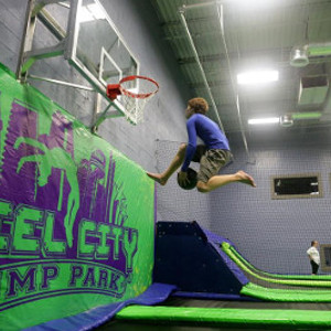 Steel City Jump Park, Birmingham Alabama Basketball Dunking