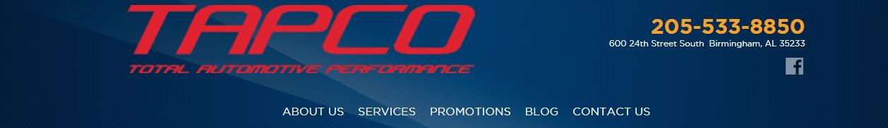 Birmingham TAPCO, Complete Auto Repair Service, Birmingham Alabama
