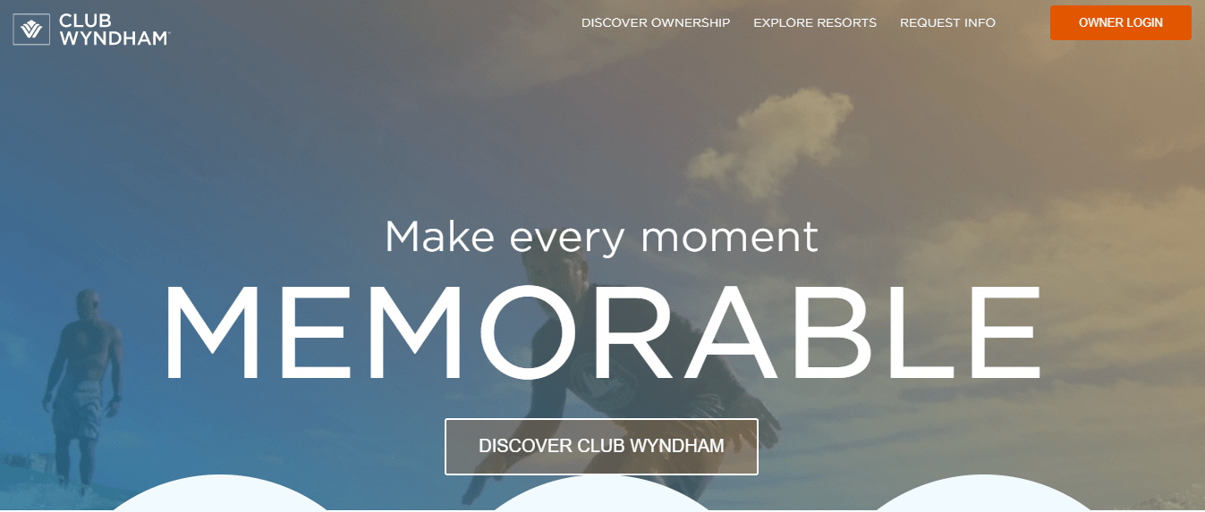 Wyndham Hotels and Resorts Website