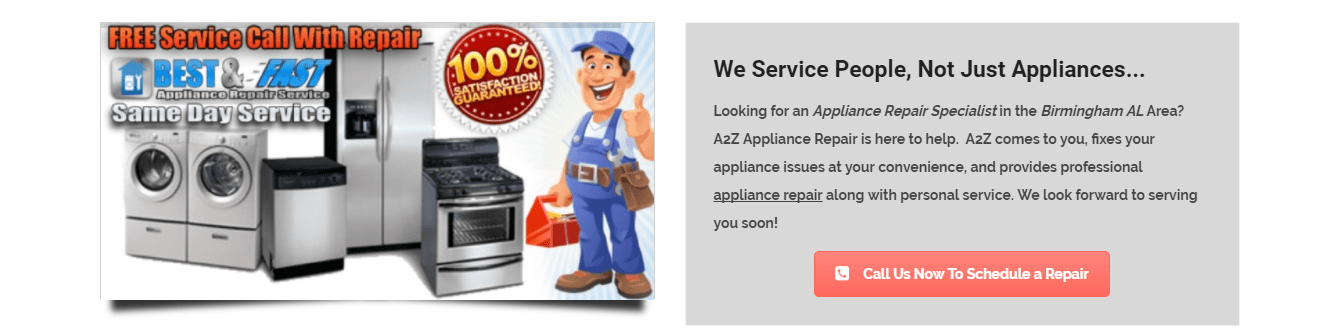 A2Z Appliance Repair Services in Birmingham Alabama