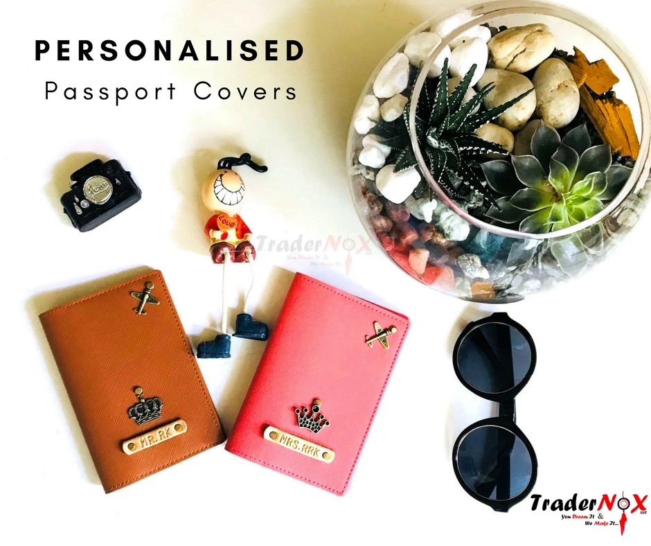 62e23b9799cc Customised Passport Cover -With your Name Tag & Charm @ AED 50