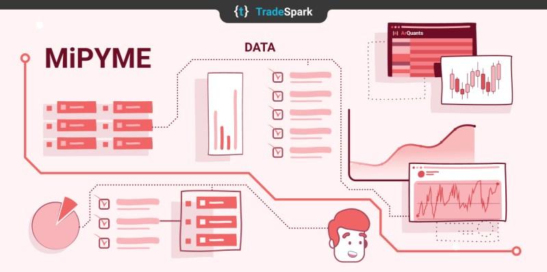 Ilustración sobre Análisis de datos web de empresas grandes de Argentina