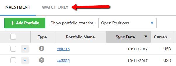 portfolio tabs
