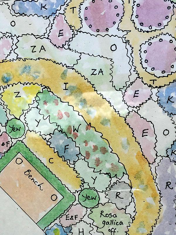 Design till utställningsträdgården av Susie White
