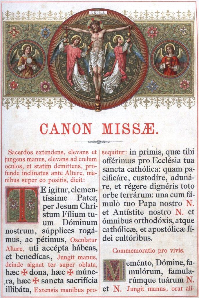 Prva stranica Rimskog kanona.
